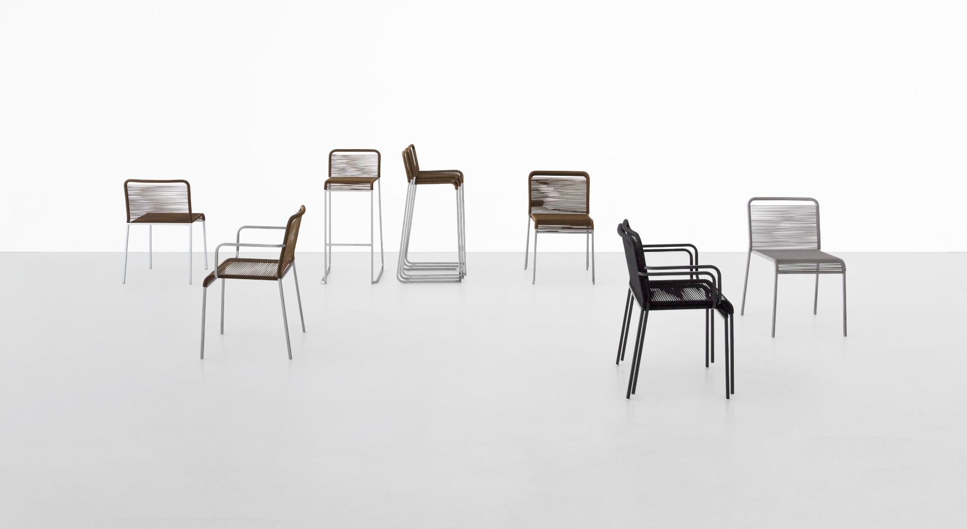 Impalpable And Iconic, ARIA Is The Very Essence Of The Outdoor Chair: A  Simple Metal Frame, With A Square Cross Section, Is Wrapped In A Continuous  Length ...
