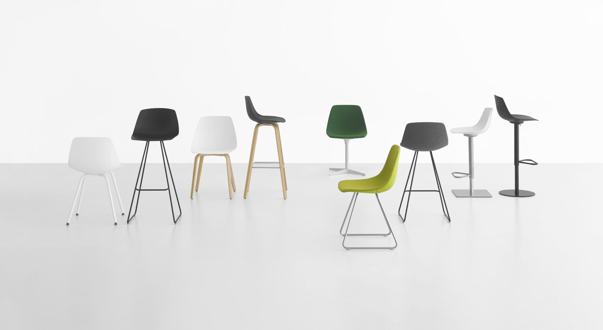 MIUNN: sedie e sgabelli moderni con forma a guscio – Lapalma
