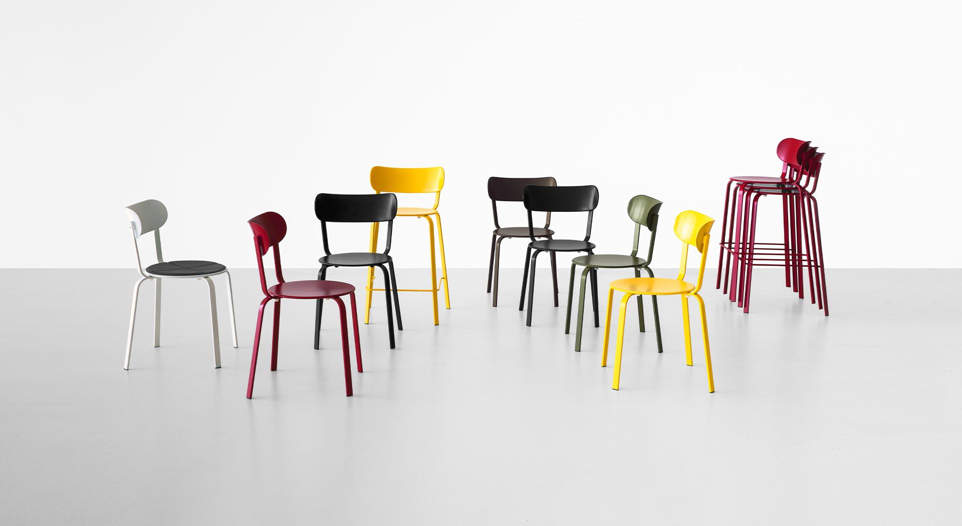 STIL: sedie e sgabelli in metallo di design – Lapalma