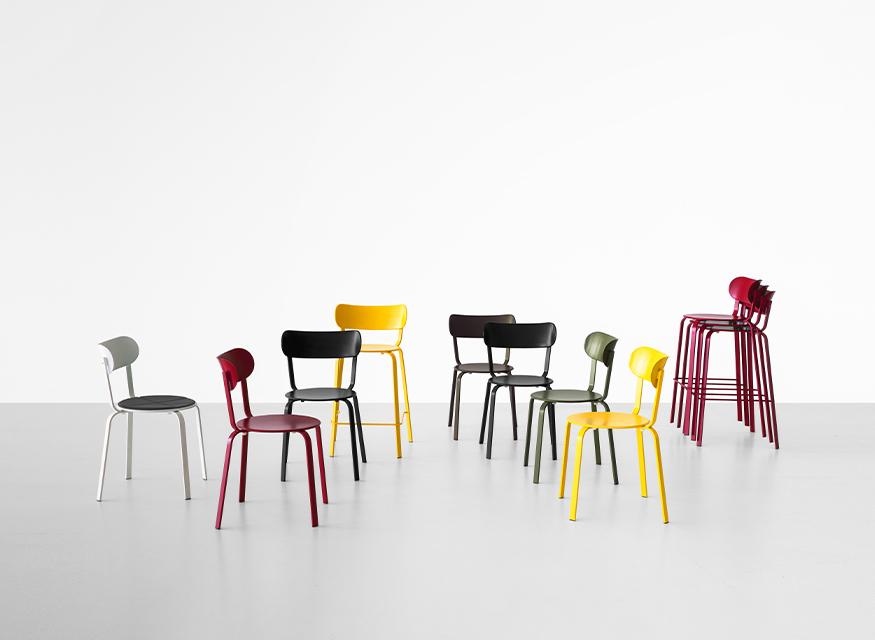 Stil: sedie e sgabelli in metallo di design u2013 lapalma