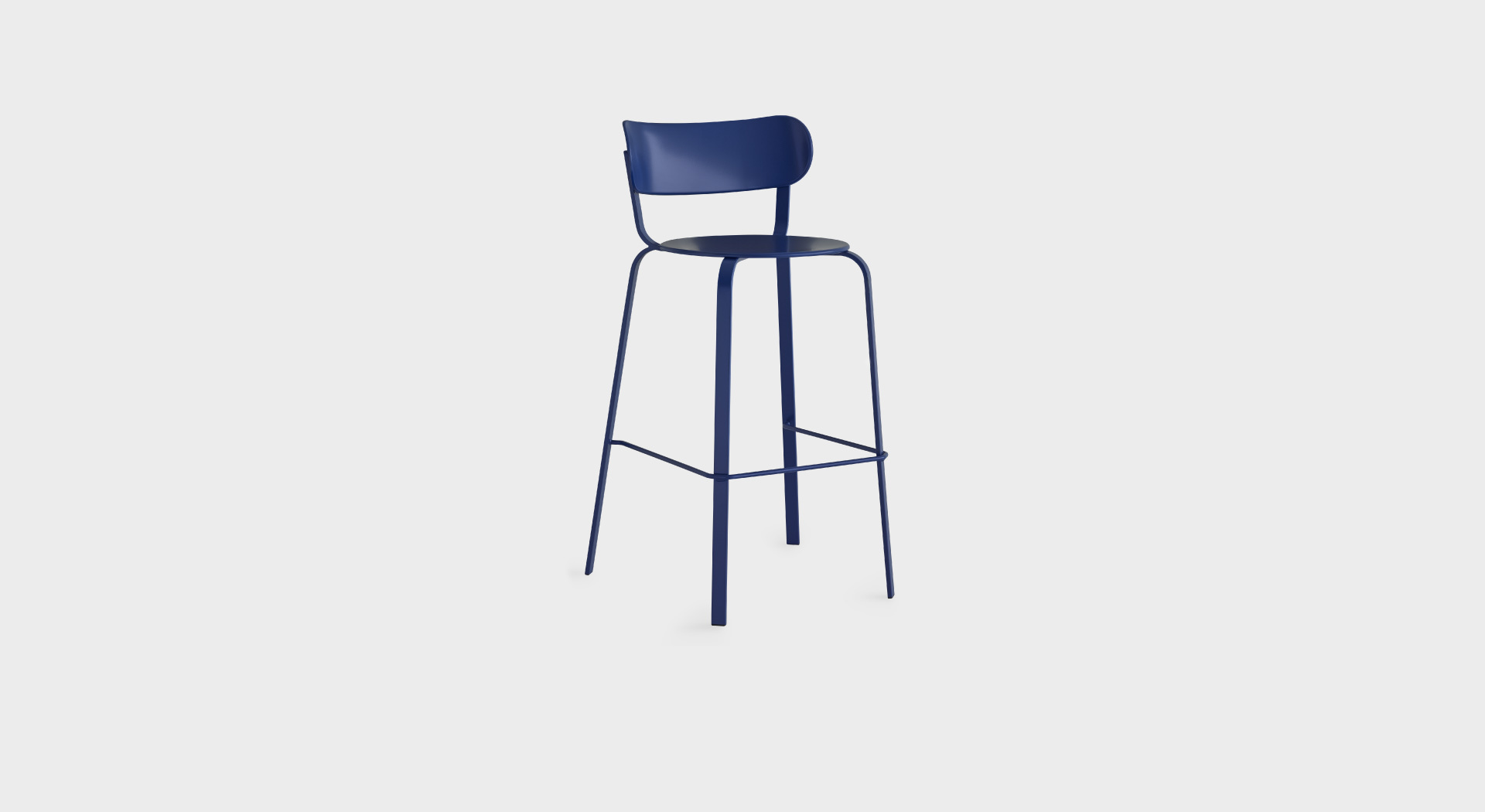 STIL S49   Powder coated metal stool: For the home or