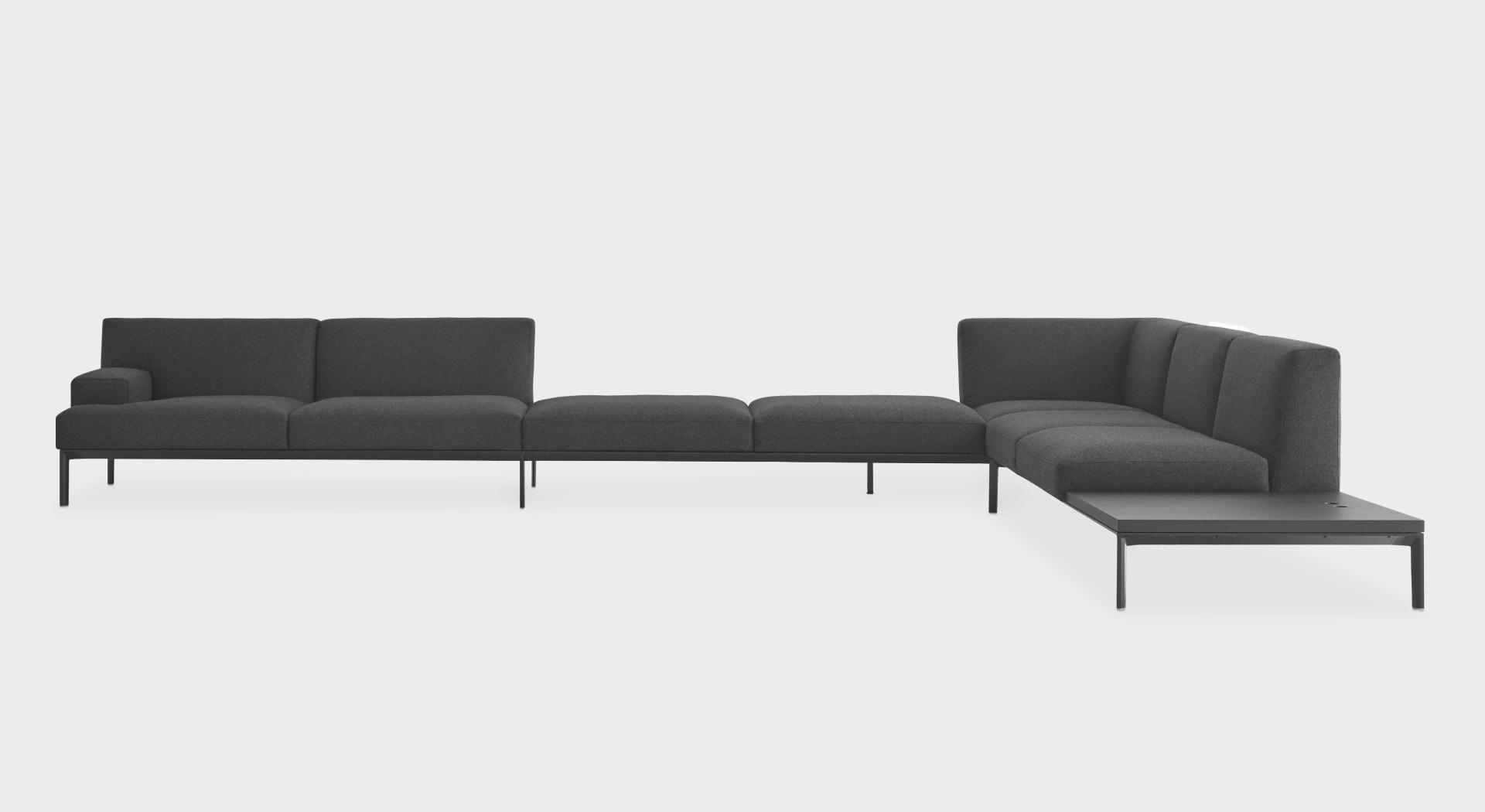 ADD SOFT L_shape big open | Corner sofa: modular system with ...